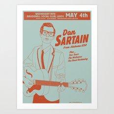 Dan Sartain 2011 Gig Poster Art Print