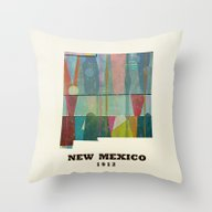 Throw Pillow featuring New Mexico Map Modern by Bri.buckley