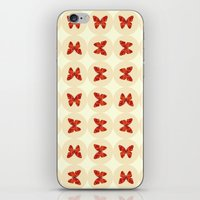 Red Butterflies iPhone & iPod Skin