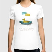 Duck Soup Womens Fitted Tee White SMALL