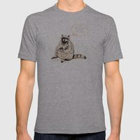 Raccoons Are Poor Gifters Mens Fitted Tee Athletic Grey SMALL