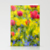 Pastel Summer Flowers  Stationery Cards