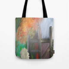 Painted Fences Broken Chairs Tote Bag