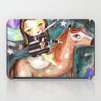 Riding a horse iPad Case