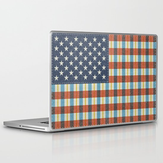 Plaid Flag. Laptop & iPad Skin