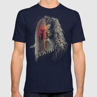 Evil Border Mens Fitted Tee Navy SMALL