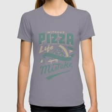 Cheesy Mistake Womens Fitted Tee Slate SMALL