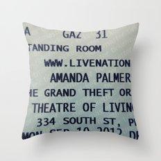 Amanda Palmer & the GTO: Standing Room Throw Pillow
