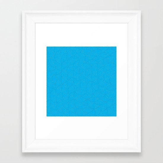 Dark Waves Framed Art Print