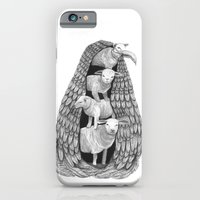 iPhone & iPod Case featuring Stack of Sheep- Feathered by Jess Polanshek