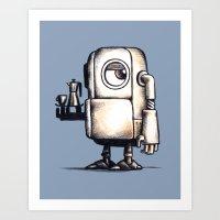 Robot Espresso #2 Art Print