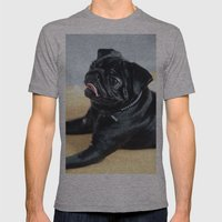 Pug Mens Fitted Tee Athletic Grey SMALL