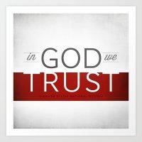 In God We Trust I Art Print