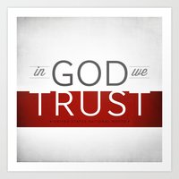 In God We Trust I Art Print
