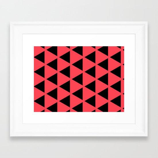 Sleyer Black on Pink Pattern Framed Art Print