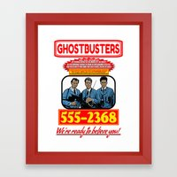 Ghostbusters Advertisement Framed Art Print