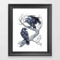 Odin's Ravens Framed Art Print