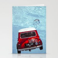 Deep Water Swimming Mini… Stationery Cards