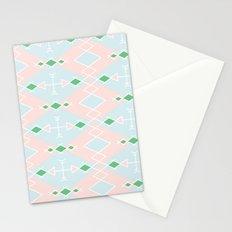pastel aztec pattern Stationery Cards
