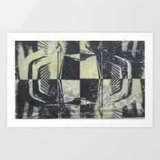 Encaustic study 1 Art Print