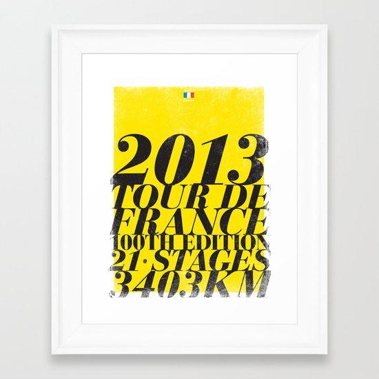 2013 Tour de France: Maillot Jaune Framed Art Print