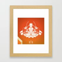 Opening The Higher State… Framed Art Print