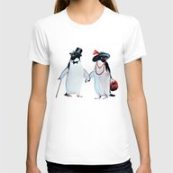Penguin Womens Fitted Tee White MEDIUM