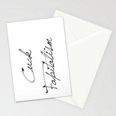 Cuck Fapitalism Stationery Cards