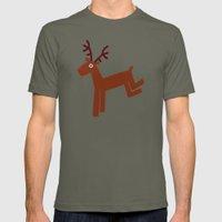 Reindeer-Green Mens Fitted Tee Lieutenant SMALL