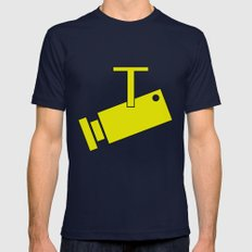 CCTV Mens Fitted Tee Navy SMALL