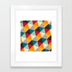 Triangles #2 Framed Art Print