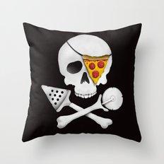 Pizza Raider Throw Pillow