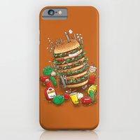 iPhone & iPod Case featuring Uber BurgerBot by Nick Volkert