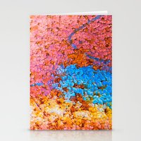 Colorful cracks Stationery Cards