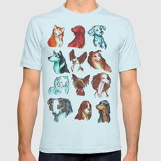 Brush Breeds Compilation Mens Fitted Tee Light Blue SMALL