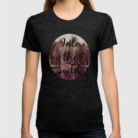 Into The Wild  Womens Fitted Tee Tri-Black SMALL