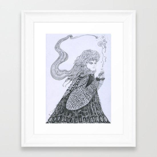 Winter Goddess Framed Art Print