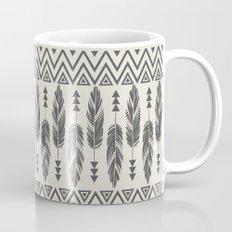 Tribal Feathers-Black & Cream Mug