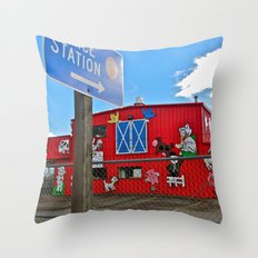 Police Station Throw Pillow