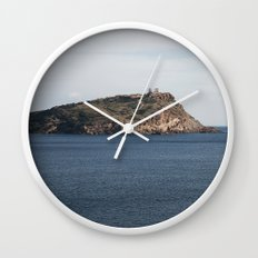Greek seascape - landscape photography poster - Cape Sounio - Greece Wall Clock