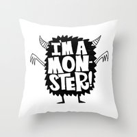MONSTER ME Throw Pillow