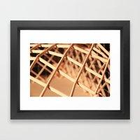 Lattice Framed Art Print