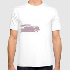 LAX Theme Building White Mens Fitted Tee SMALL
