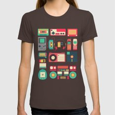 Retro Technology 1.0 Womens Fitted Tee Brown LARGE