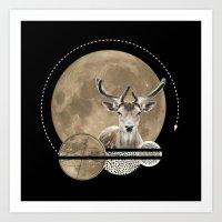 Real. Reindeer. Art Print