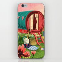 Gypsy Caravan at Sunset iPhone & iPod Skin