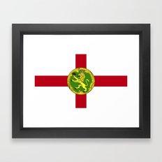 Alderney Flag Framed Art Print
