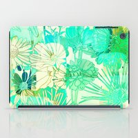 turquoise floral iPad Case