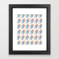 Popsickle Pattern Framed Art Print