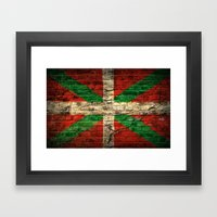 Ikurriña Framed Art Print